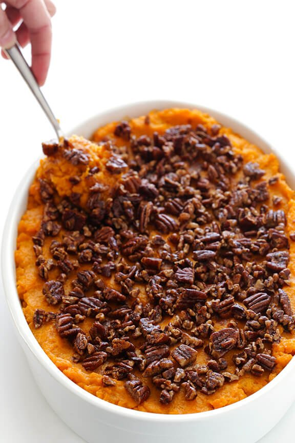 Sweet Potato Casserole -- naturally sweetened with a hint of maple ...
