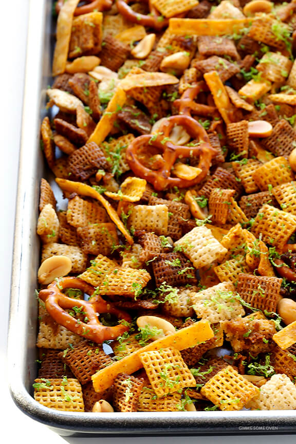 Tequila Lime Chex Mix -- kick your party mix up a notch with this easy and delicious recipe | gimmesomeoven.com