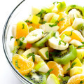 Winter Fruit Salad -- easy to make, and sweetened with a hint of honey | gimmesomeoven.com