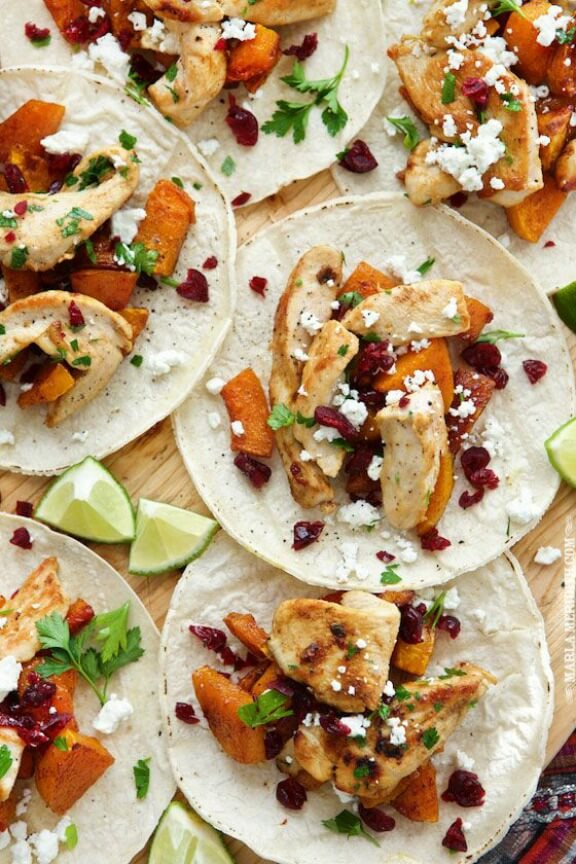 Roasted Butternut Squash & Turkey Tacos | marlameridith.com