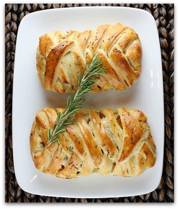 Turkey-Cranberry Strudel with Maple Roasted Butternut Squash | recipegirl.com