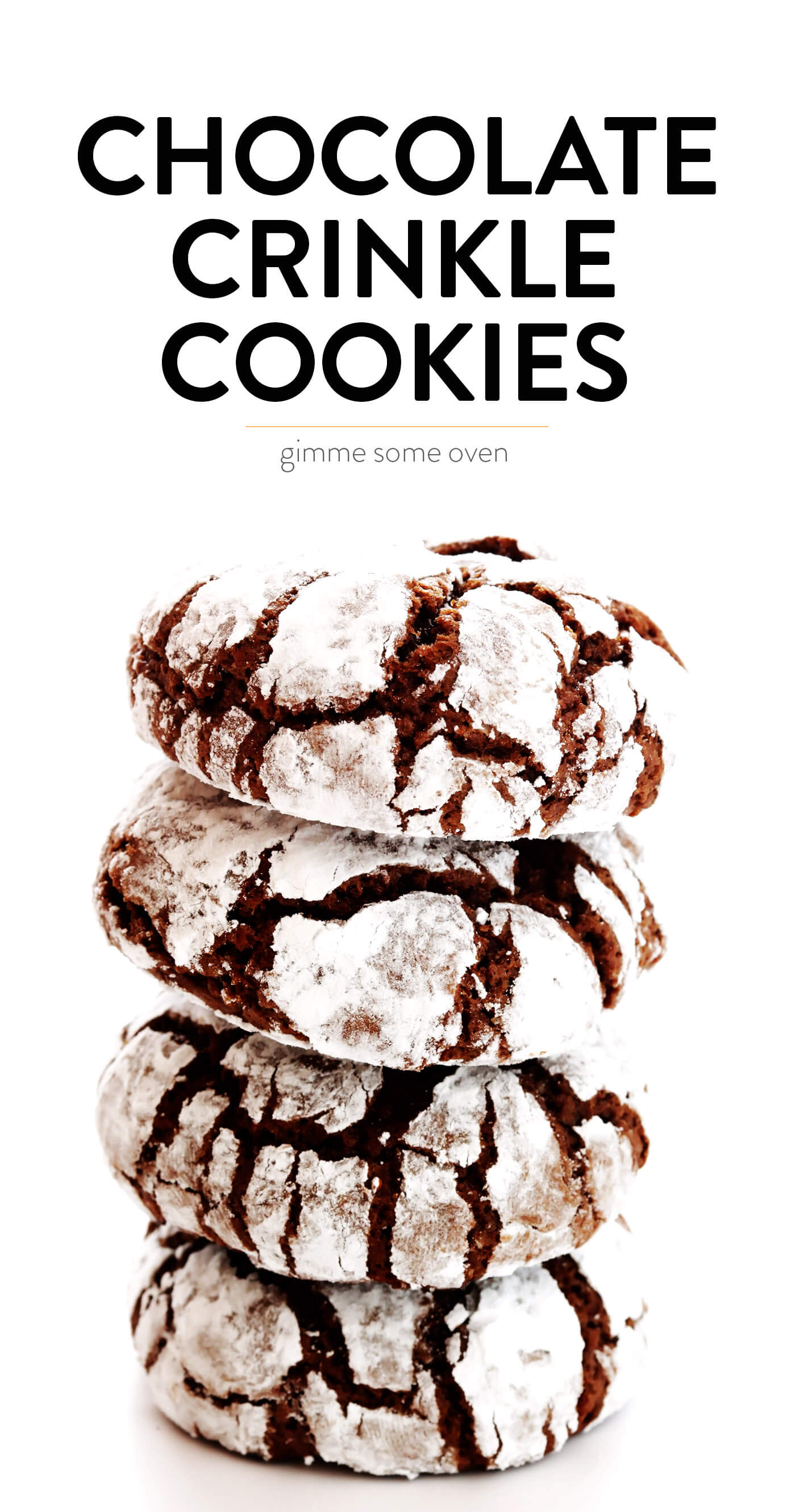 Chocolate Crinkle Cookies Gimme Some Oven