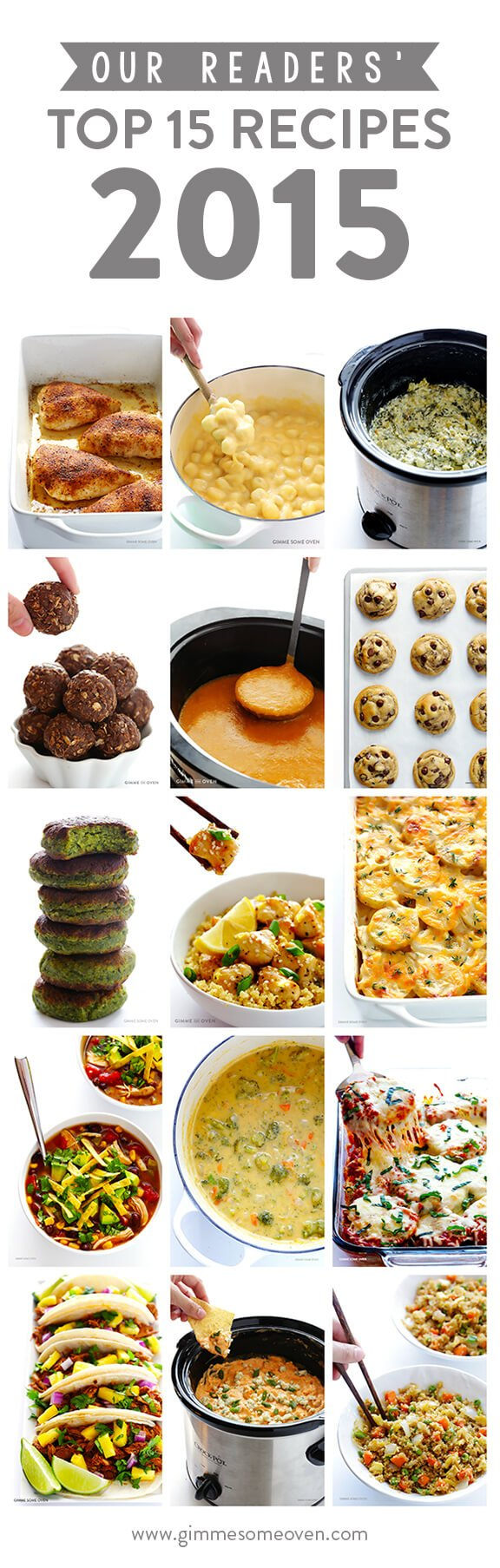 Our Readers Top 15 Recipes of 2015 | gimmesomeoven.com