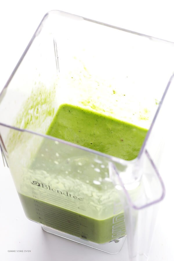 To make the green smoothie, simply toss everything in a blender and ...