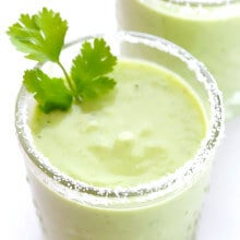 Avocado Margaritas Recipe -- a delicious and creamy twist on this classic cocktail! | gimmesomeoven.com