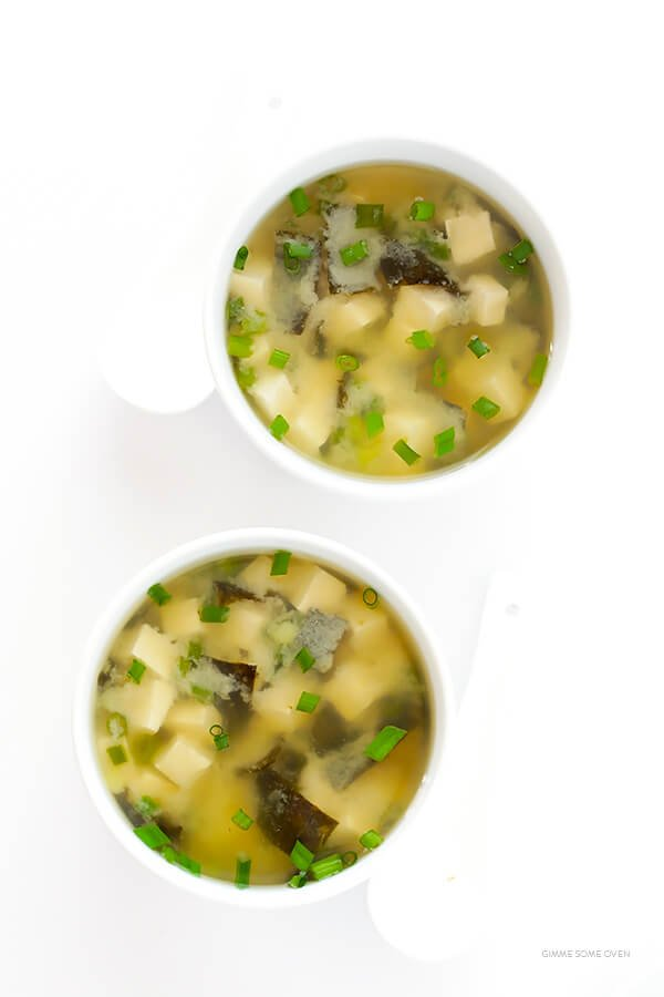 Miso Soup Recipe -- this traditional Japanese soup is quick and delicious to make at home with just 6 ingredients! | gimmesomeoven.com