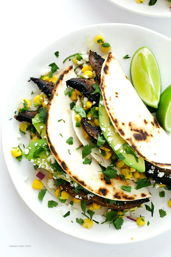 Roasted Portobello Tacos -- easy to make, nice and hearty, and absolutely delicious! | gimmesomeoven.com