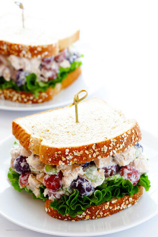 Lightened-Up Chicken Salad Recipe -- made with Greek yogurt and all of the classic ingredients we all love! | gimmesomeoven.com