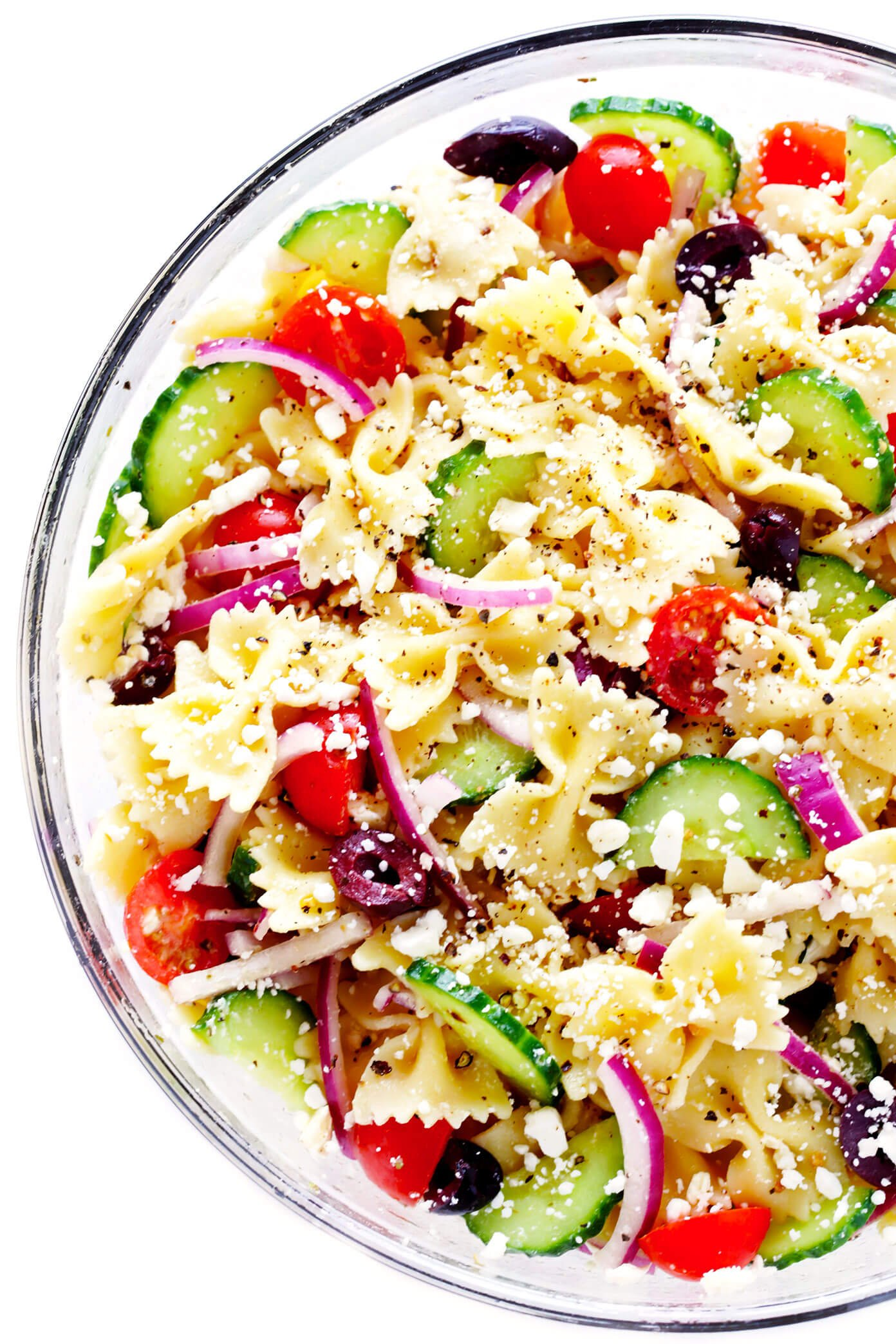 Mediterranean Pasta Salad Recipe Gimme Some Ove