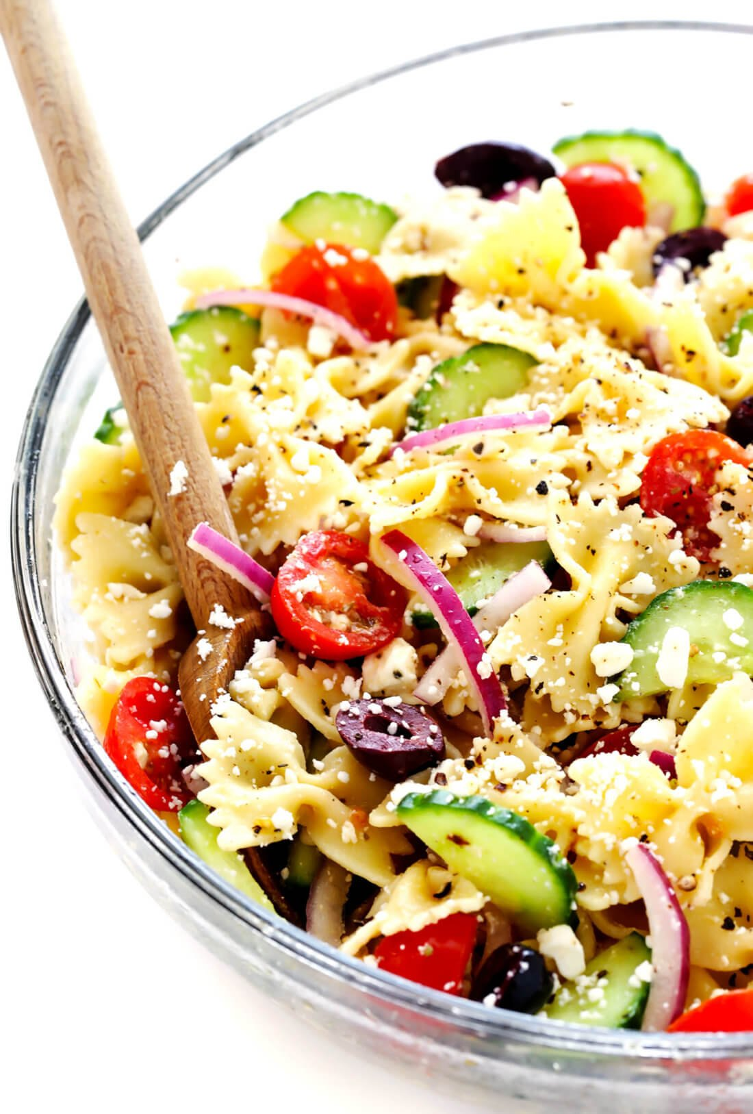 Mediterranean Pasta Salad with Greek Vinaigrette