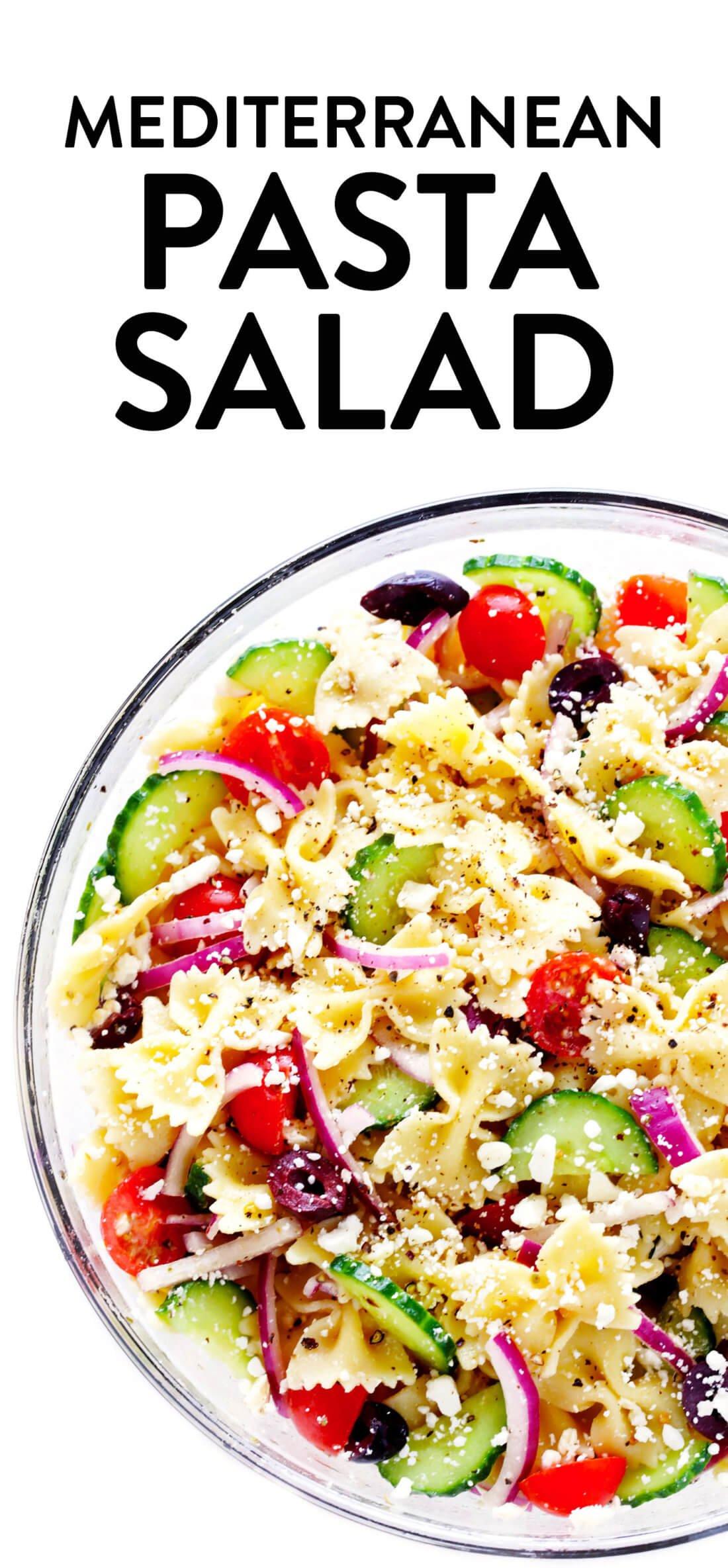 Mediterranean Pasta Salad Recipe with Greek Vinaigrette
