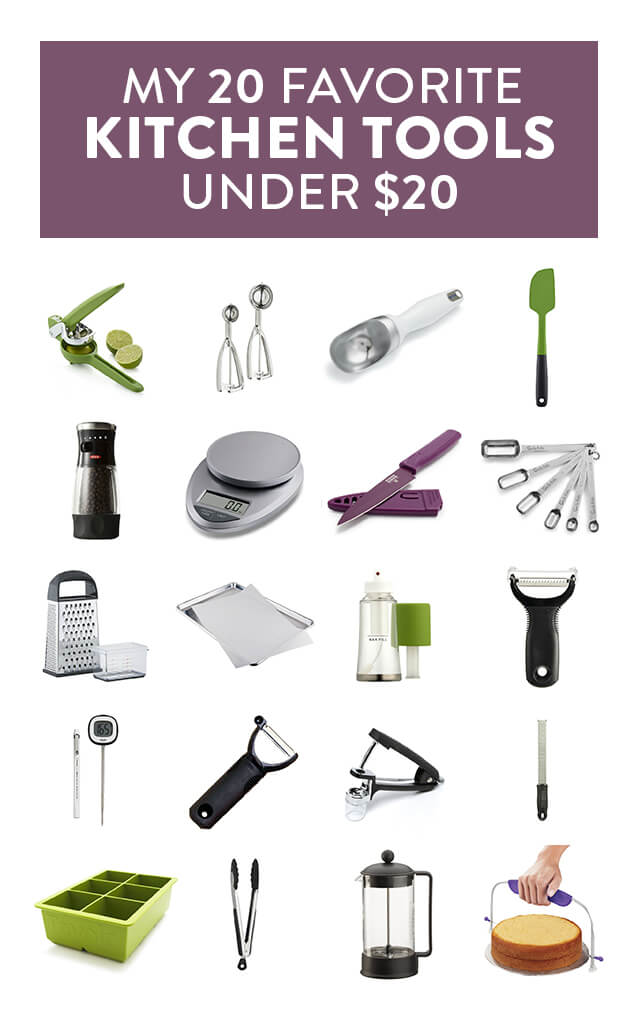 Food blogger Ali Ebright (from Gimme Some Oven) shares her favorite useful and affordable kitchen tools, all $20 or less! | gimmesomeoven.com
