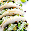 Brussels Sprouts Tacos with Creamy Avocado Sauce | gimmesomeoven.com