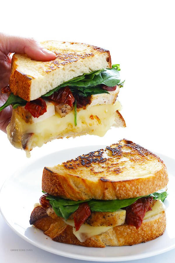 Chicken Florentine Grilled Cheese Gimme Some Oven