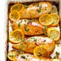 Baked Lemon Chicken -- perfectly juicy and tender, easy to make, and full of the best fresh lemony flavor! | gimmesomeoven.com