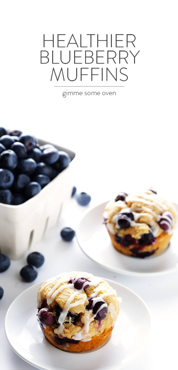 Healthier Blueberry Muffins - Gimme Some Oven