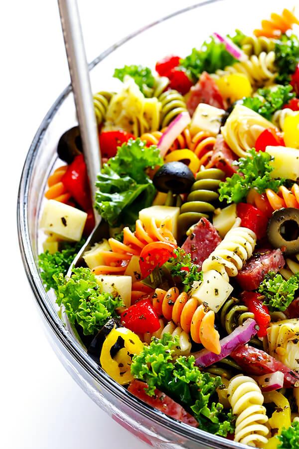 Rainbow Antipasto Pasta Salad | Gimme Some Oven