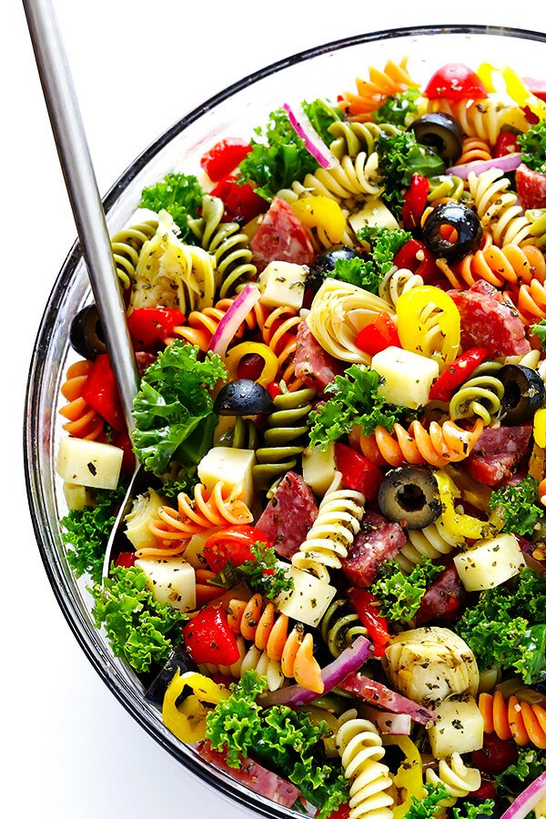 This Rainbow Antipasto Pasta Salad Is The Perfect Way To Use Up Leftover Antipasto Ingredients