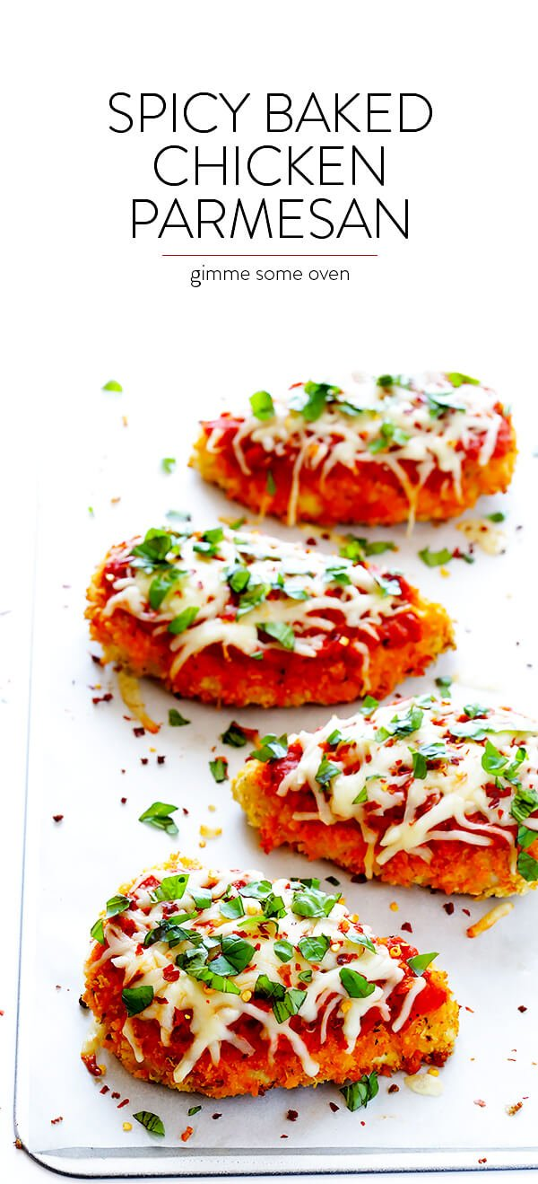 Spicy Baked Chicken Parmesan 1