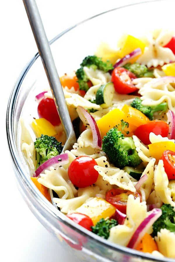This Veggie Lovers Pasta Salad Recipe Is Easy To Make With Whatever Veggies You Have