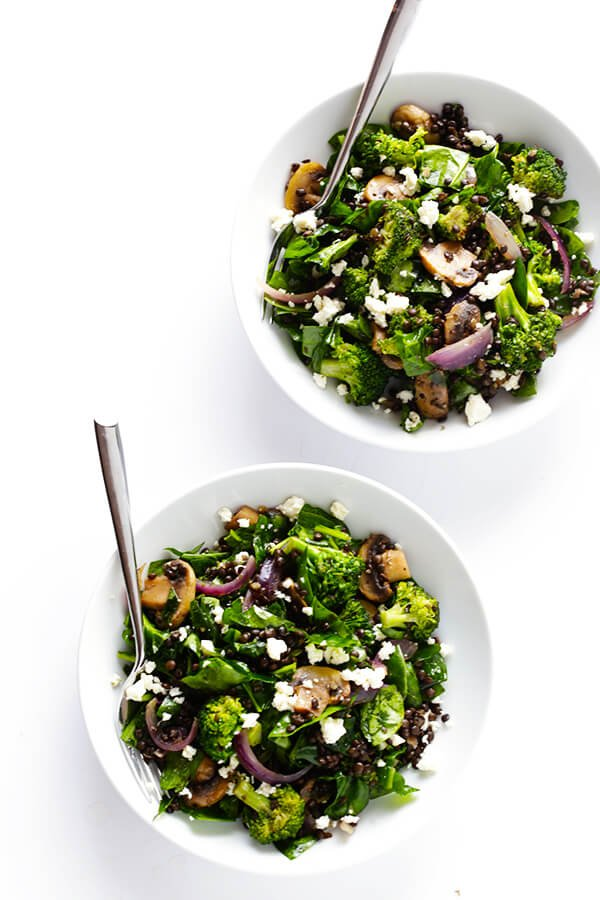 Zesty Lentil Spinach Salad Gimme Some Oven
