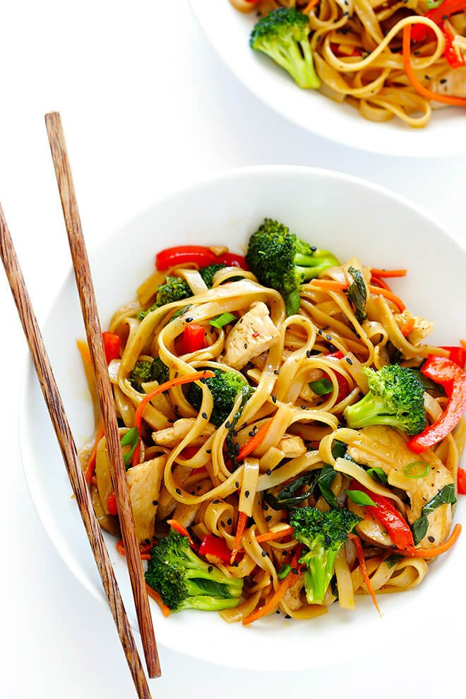 30 minute sesame chicken noodle stir fry gimme some oven this 30 minute sesame chicken noodle stir fry recipe is quick and easy to forumfinder Gallery