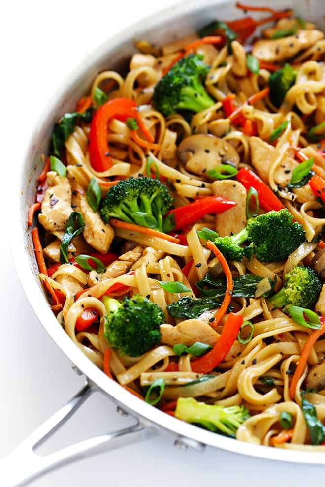 30 Minute Sesame Chicken Noodle Stir Fry Gimme Some Oven