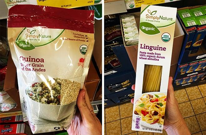 ALDI Quinoa and Spaghetti Pasta