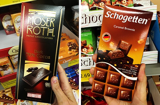 Aldi Chocolate Bars