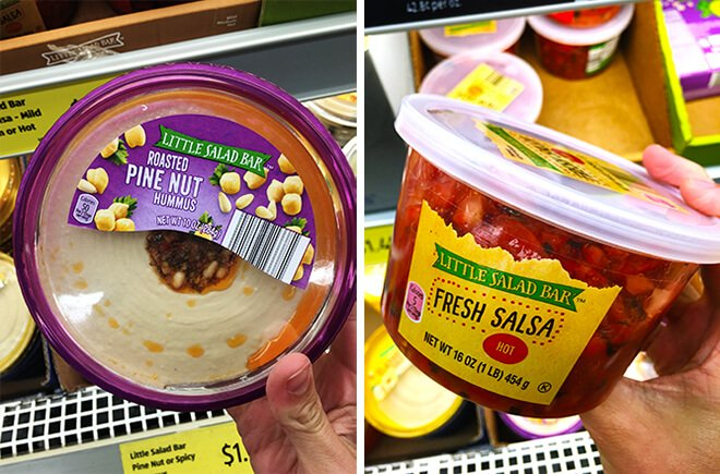 Aldi Hummus and Salsa