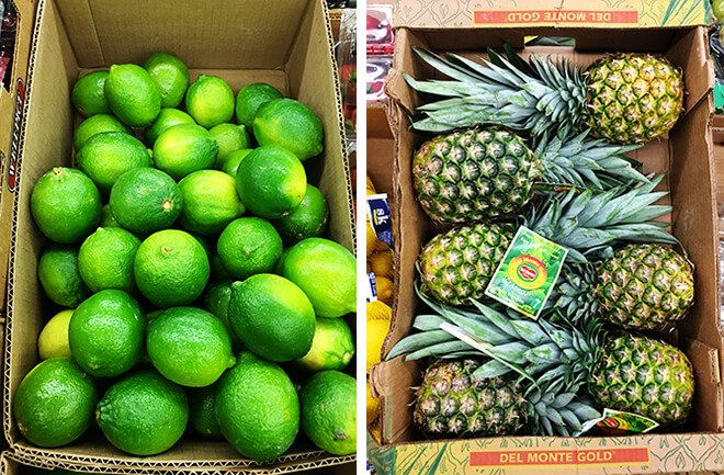 Aldi Limes and Pineapple