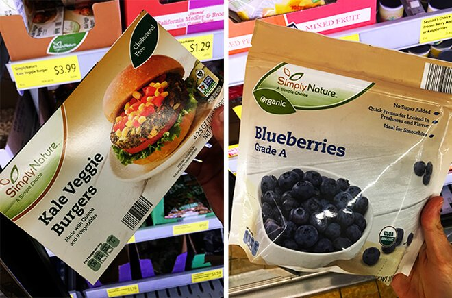 Aldi Veggie Burgers Frozen Strawberries Blueberries Fruit