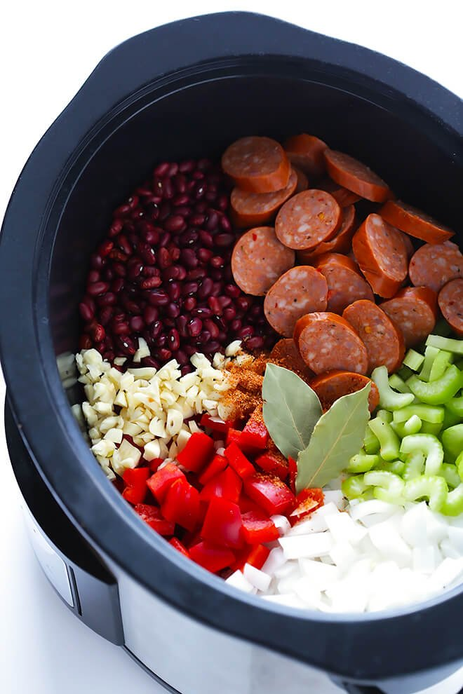 Crock Pot Red Beans and Rice -- this easy recipe only takes a few ...