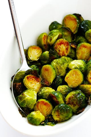 My favorite recipe for classic Roasted Brussels Sprouts.  They're easy to make with whatever other seasonings sound good, but the classic recipe is hard to beat!   gimmesomeoven.com