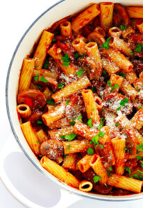 Rigatoni with Mushrooms, Rosemary and Parmesan | Gimme Some Oven