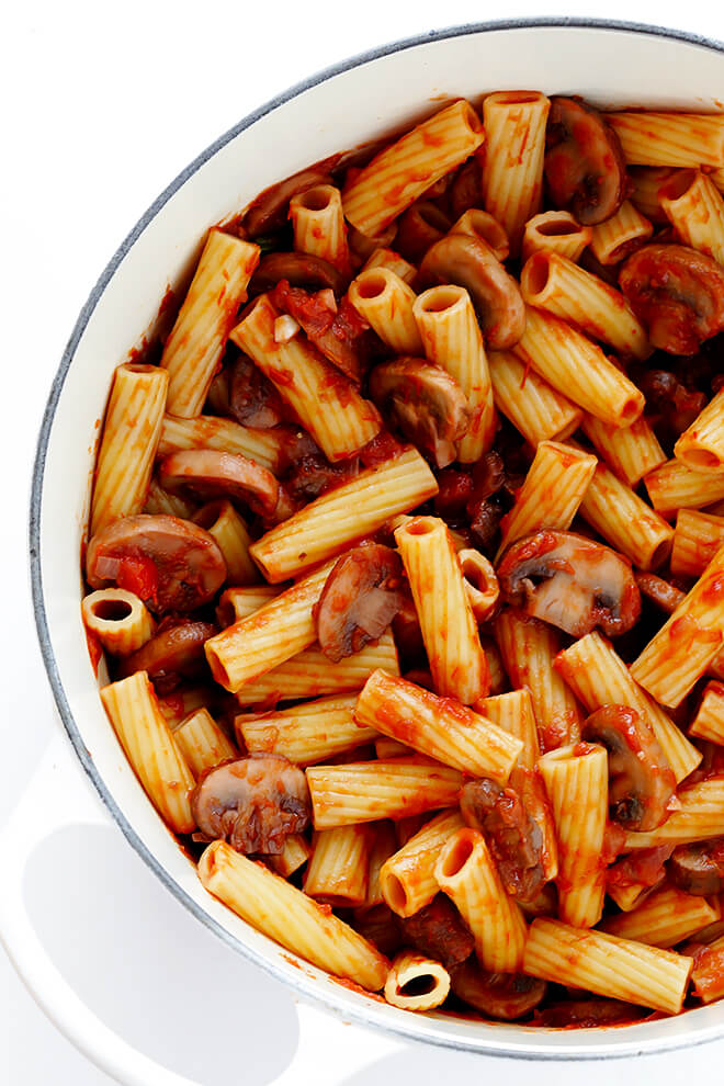 rigatoni with mushrooms rosemary and parmesan gimme some oven