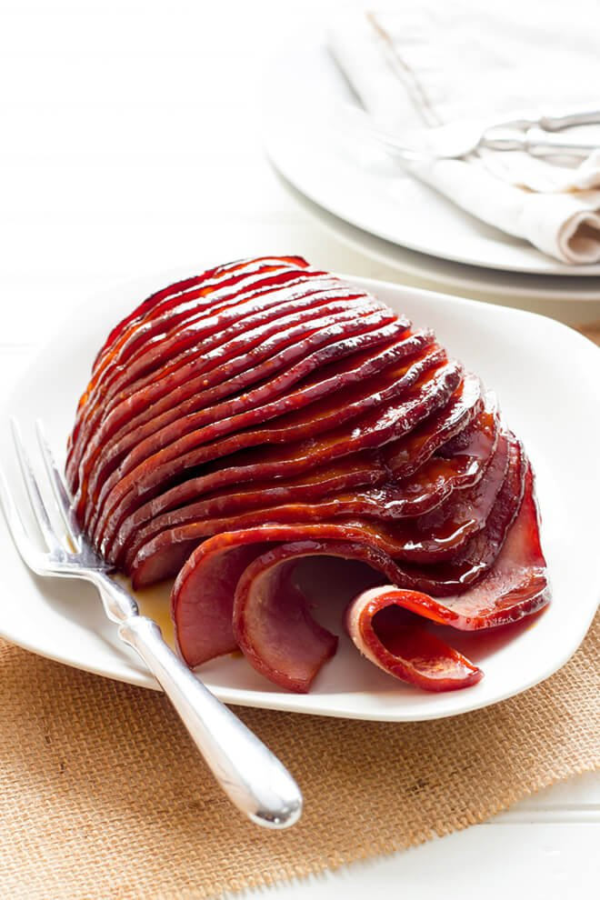 Slow Cooker Honey Glazed Ham -- one of 12 ways to rock your crock-pot this Thanksgiving! | gimmesomeoven.com