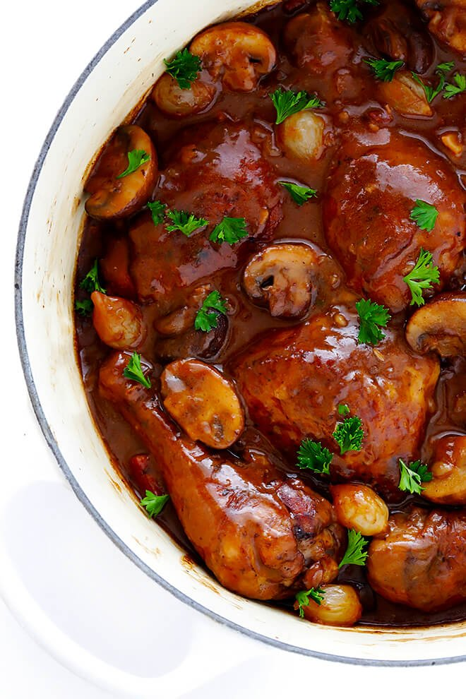This classic Coq Au Vin recipe is surprisingly easy to make, and slow ...