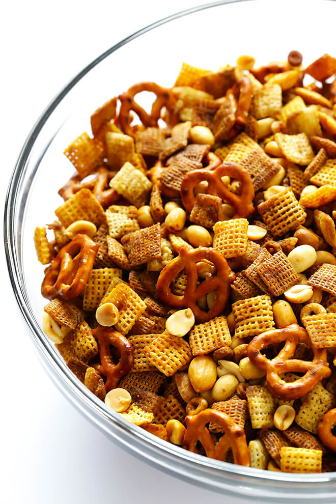 This Extra-Bold Chex Mix recipe is made with extra sauce, and tastes downright irresistible! It's the perfect snack or appetizer for holiday entertaining.