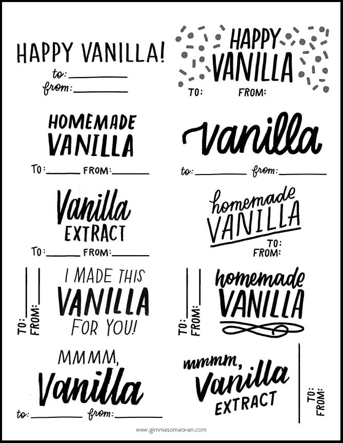 Homemade Vanilla Extract Plus Free Printable Labels