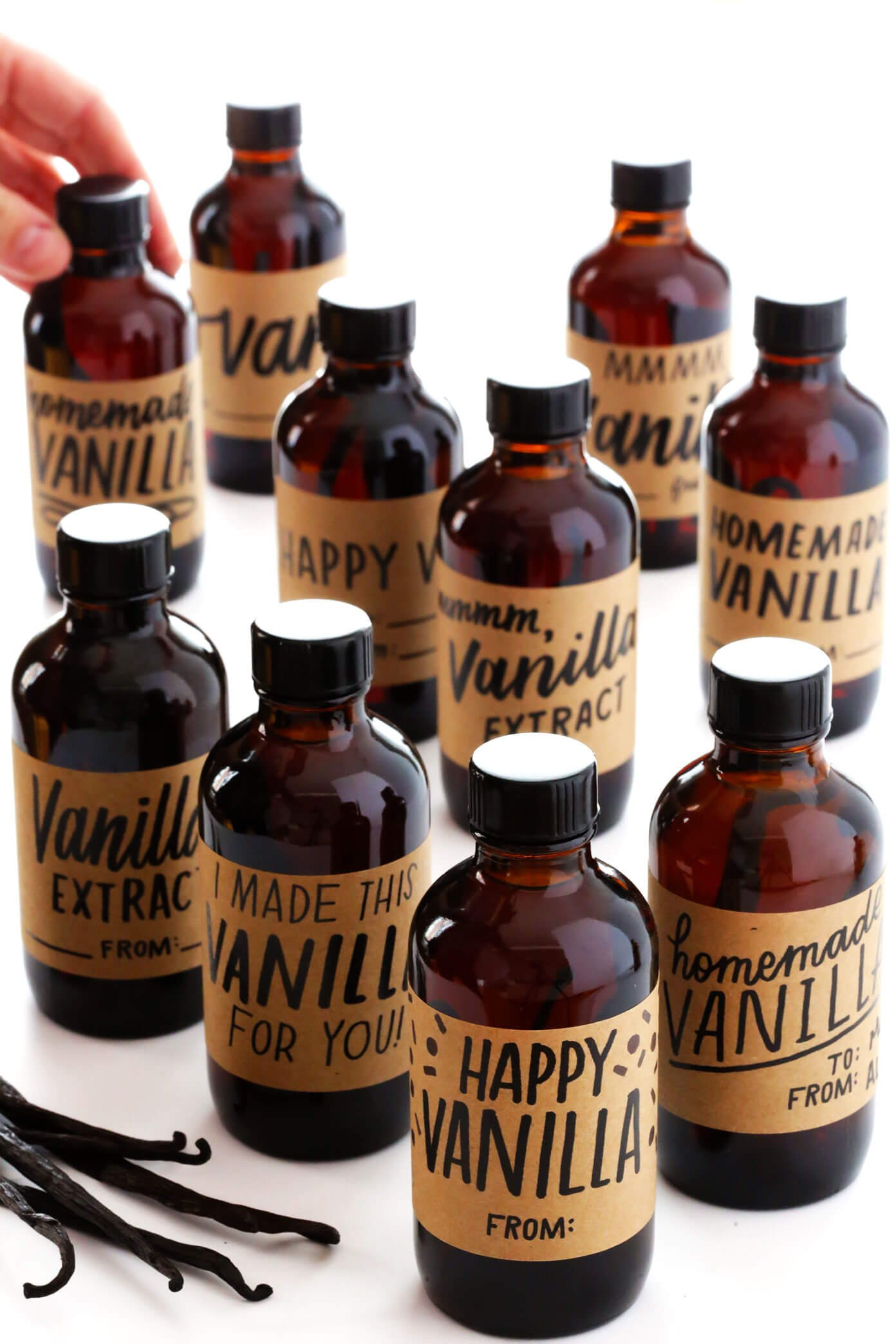 Free Printable Labels for Vanilla Extract
