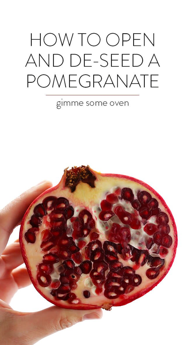 My favorite 2 methods for how to open and de-seed a pomegranate! | gimmesomeoven.com