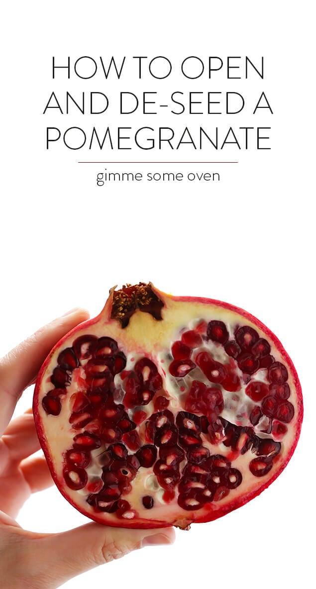 Best way to cut a pomegranate