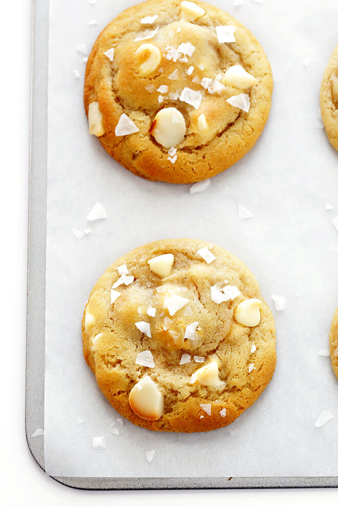 Salted White Chocolate Macadamia Nut Cookies 2