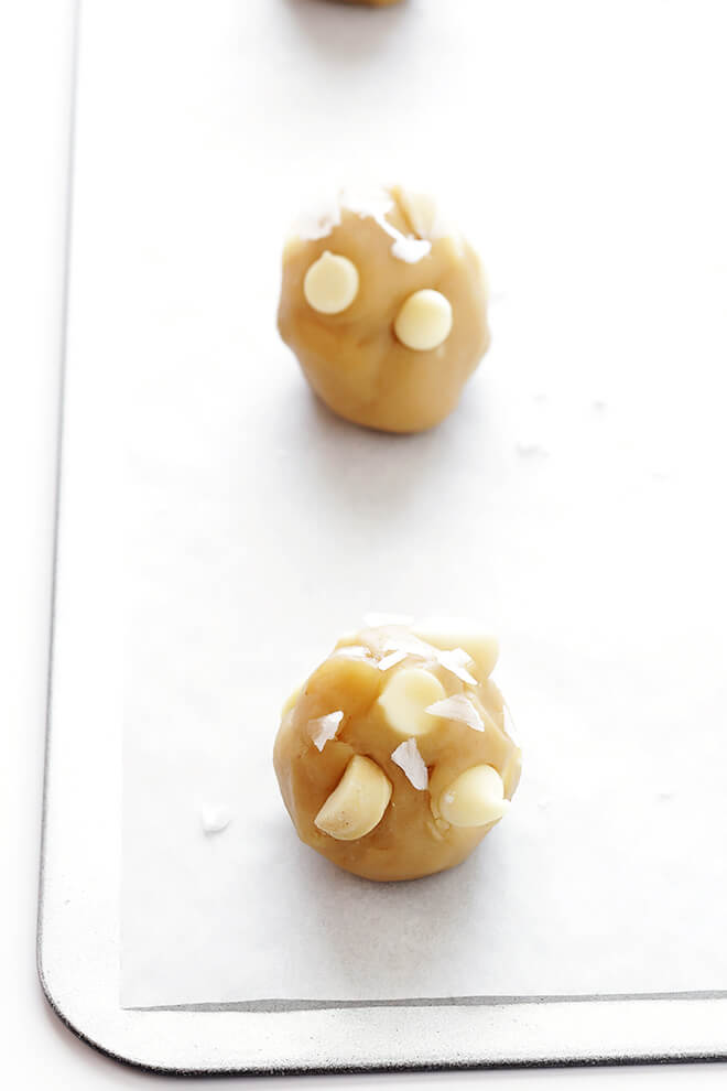 Salted White Chocolate Macadamia Nut Cookies 4