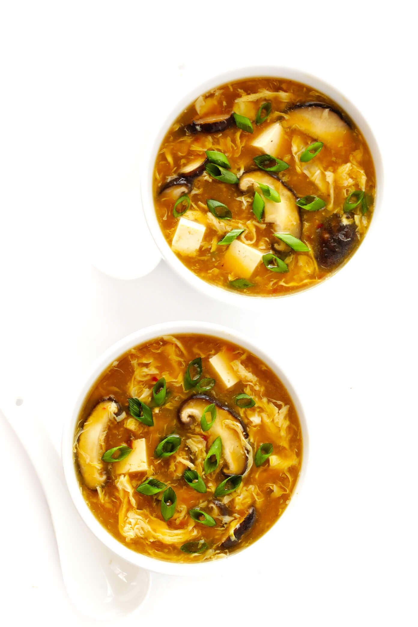 Hot and Sour Soup Recipe with Mushrooms and Tofu