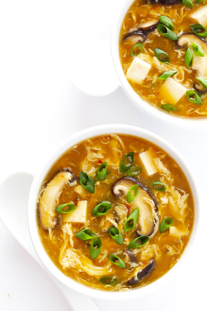 This Hot and Sour Soup recipe is quick and easy to make, SO tasty and flavorful, and tastes just like the Chinese restaurant version! | gimmesomeoven.com