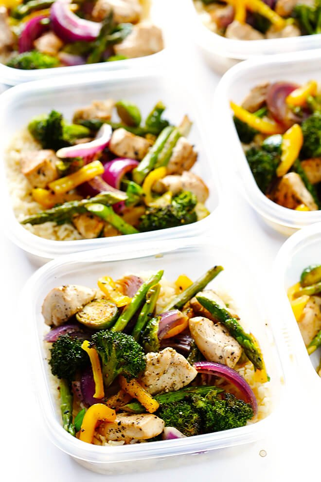 "This delicious Sheet Pan Chicken and Veggies ""Stir Fry"" dinner recipe is quick and easy to prepare, and made with a delicious sesame-soy dressing that everyone will love. Plus, it's easy to make-ahead and refrigerate if you'd like to do some meal planning for the week! 