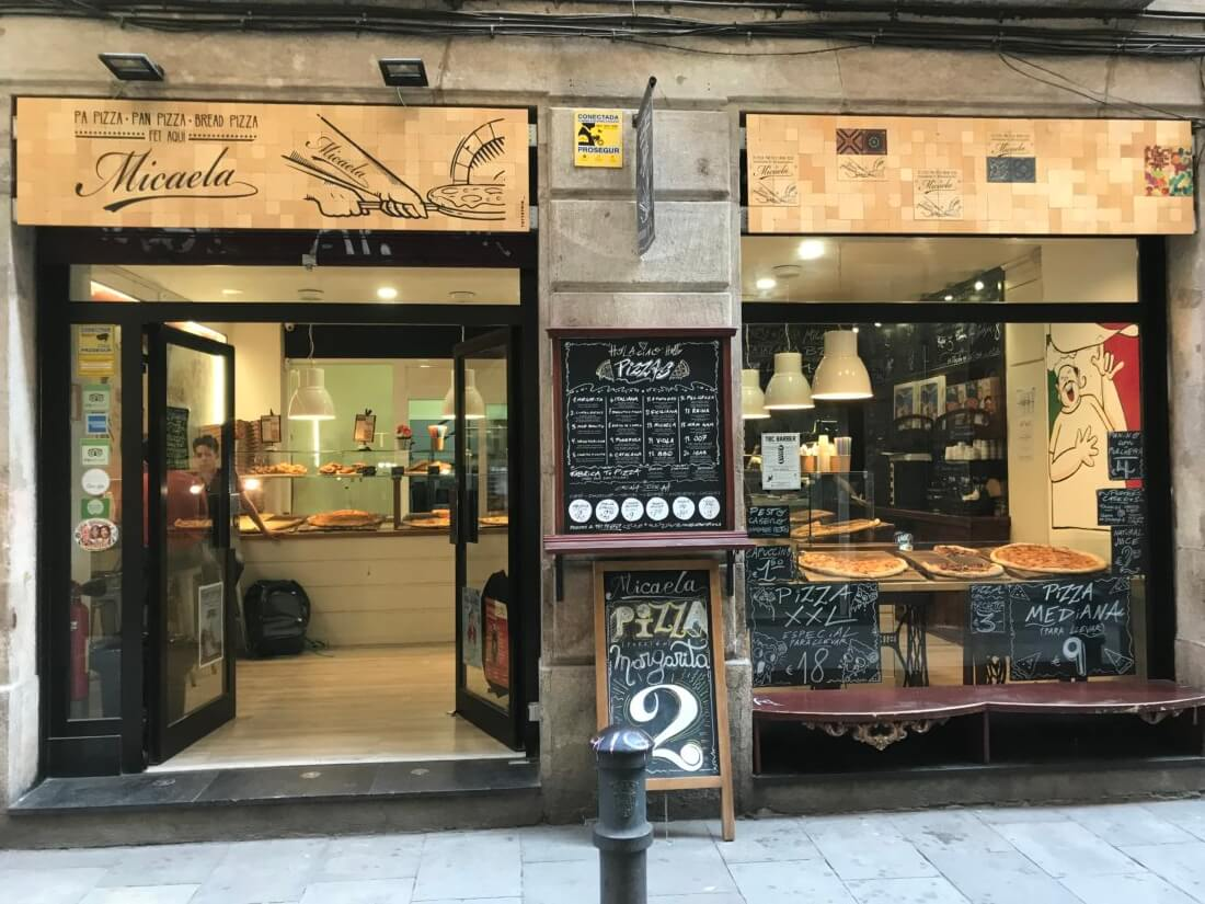 Pizzeria Micaela pizza by the slice   Gimme Some Barcelona Travel Guide