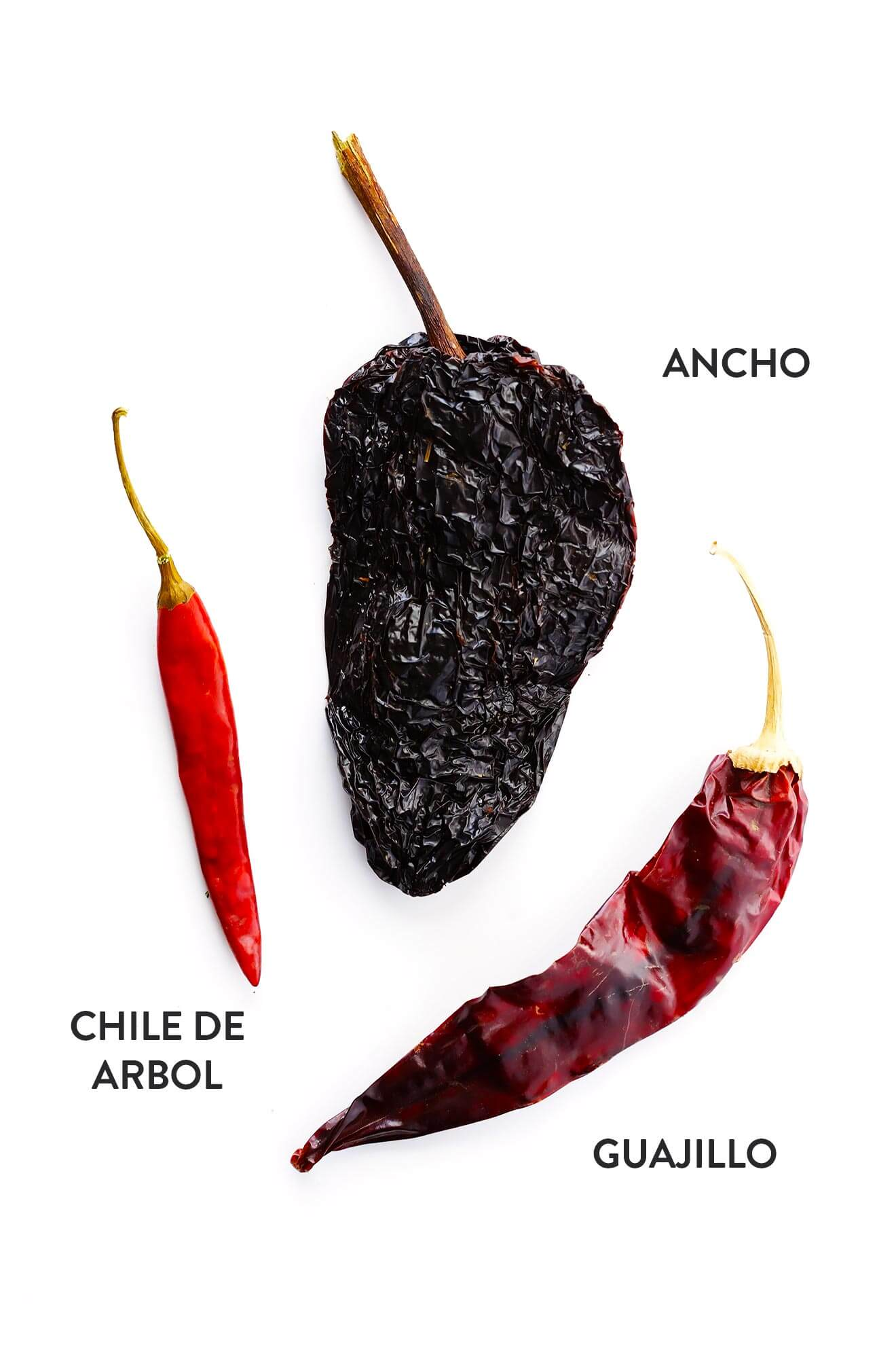 These are the three chiles used to make traditional Mexican Posole Rojo. Delicoius! | gimmesomeoven.com